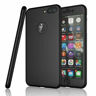For iPhone 7 Plus SE X XS Ultra Hard Case Cover+ Glass