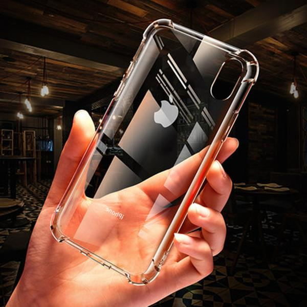 For iPhone Plus X Phone Case Soft Silicone Clear Slim Rubber