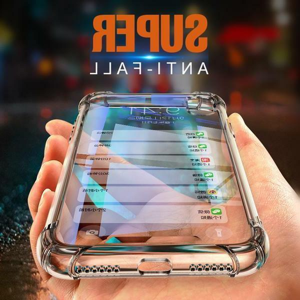 iPhone 6 6S 8 7 Plus X Case Soft Silicone Clear Transparent