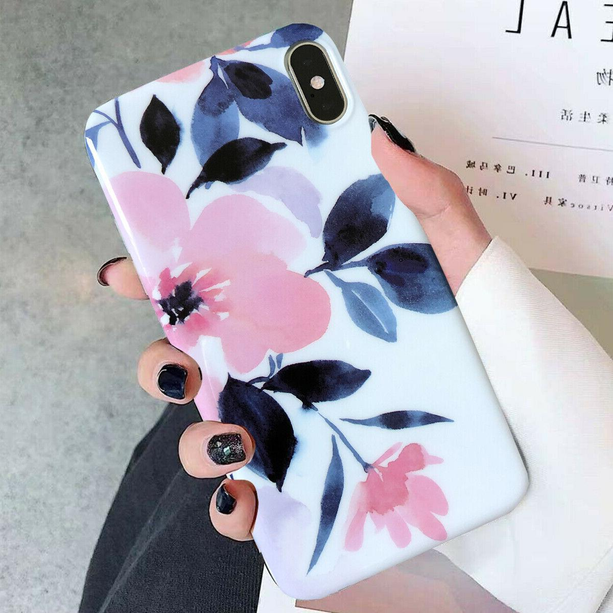 Iphone Plus 6S XS Max Shockproof Flower Women Phone