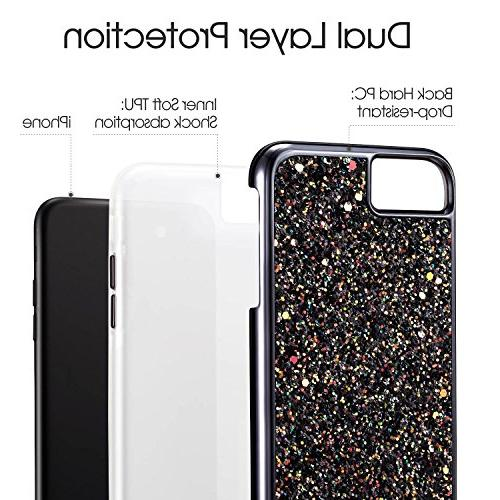 iPhone iPhone MIRACASE Bling Layer Shockproof Cover Soft Inner Glitter Case iPhone 7 Plus/6 Plus/6S Plus