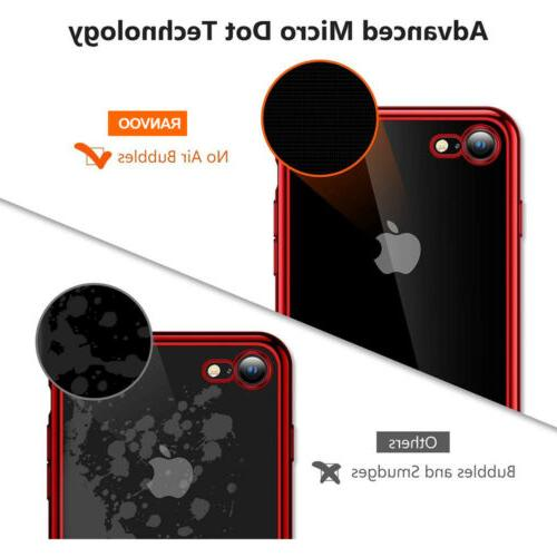 For iPhone XR 8 7 X Clear Fit Protective Cover