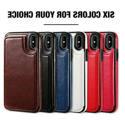 For iPhone 5S 6S XR Max Business Leather Cover