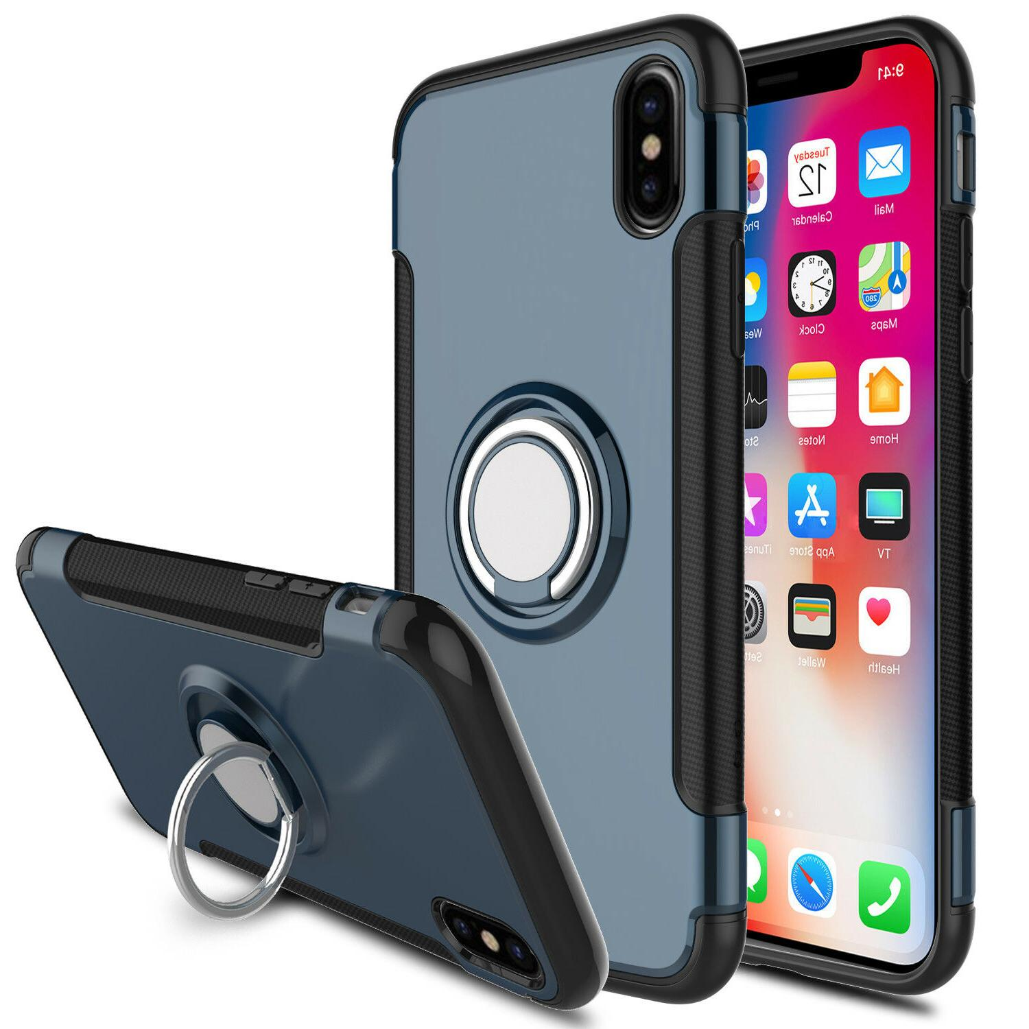 For iPhone 7 Plus Car Magnetic Stand Cover