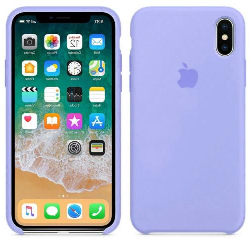 For Apple X XR XS 8Plus Original Silicone Genuine Luxury Cover
