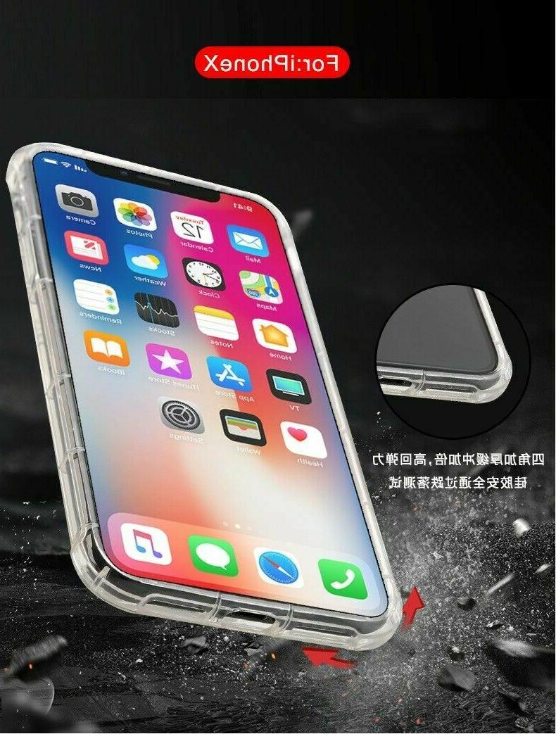 For X XR XS Max 6s Clear Shockproof Protective Cover Case