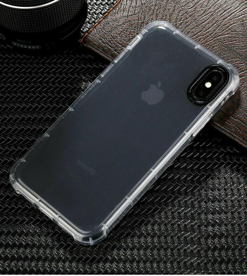 For XR Max 6s 8 Clear Shockproof Protective Case