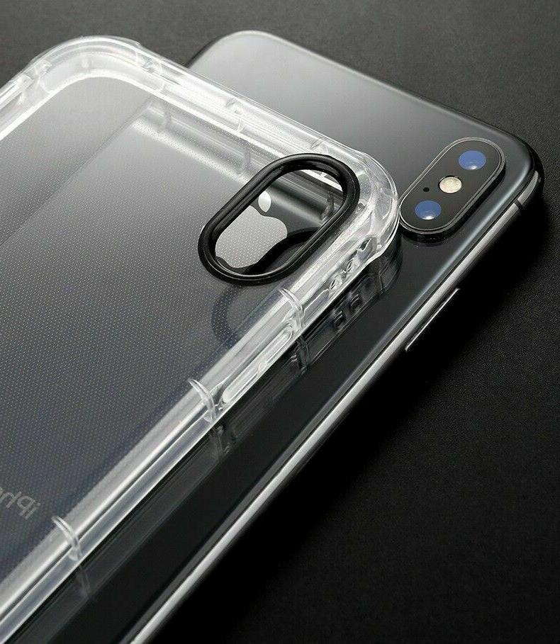 For iPhone X XS XR 6s 7 8 Plus Clear Shockproof Cover Case