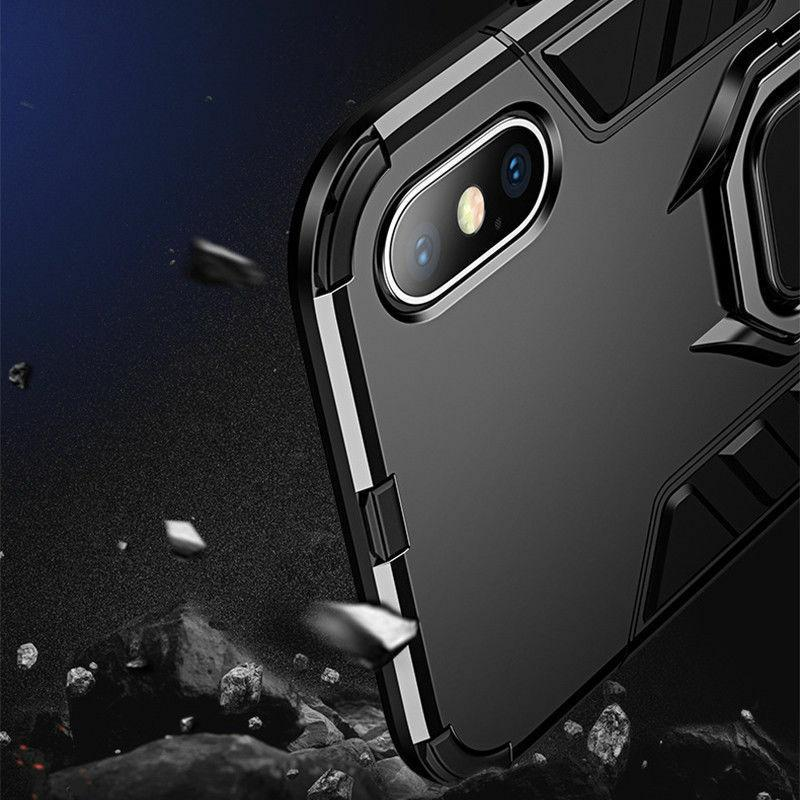 For iPhone Pro XR 8 Magnetic Stand Ring Holder Case