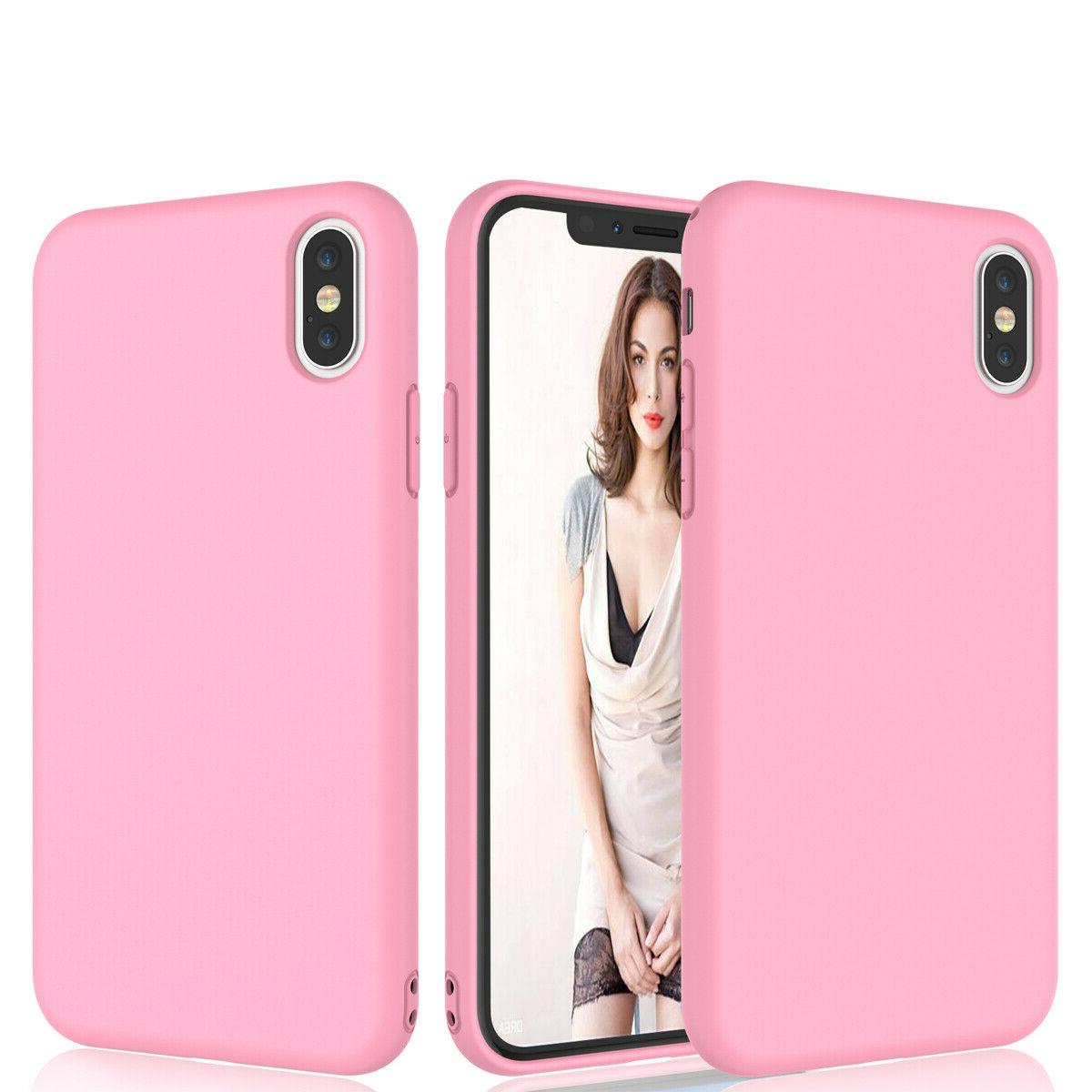 For 12 XS 6S 8 7 Plus Silicone Soft