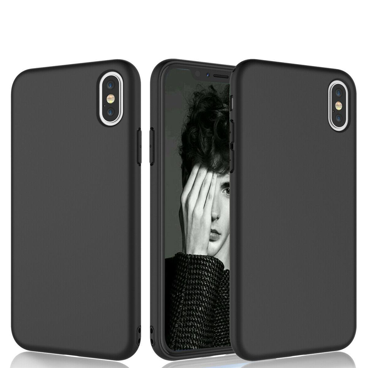 For 12 Pro 11 XS 6 6S 8 Plus Silicone Soft Case Cover