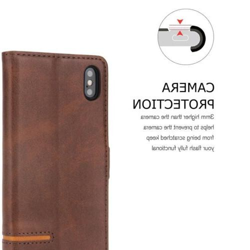 For iPhone XR Card Wallet Cover