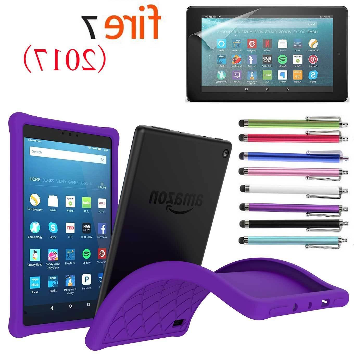 Kids Silicone Gel Protective Amazon Fire Tablet 2017