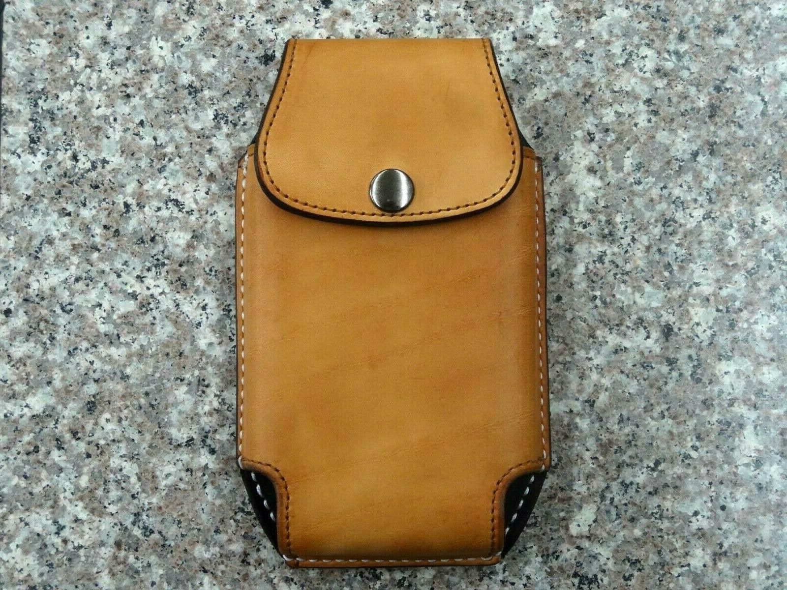 leather cell phone case holster sheath vertical