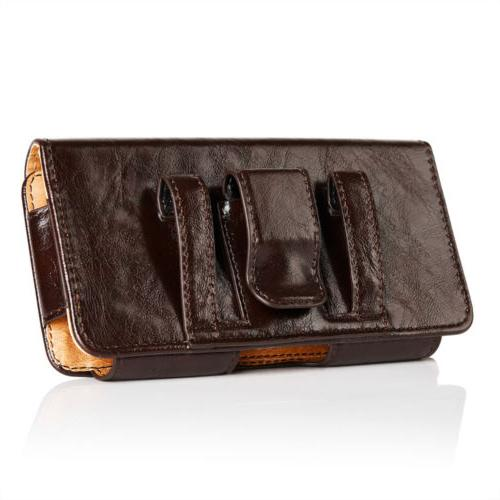 Leather Phone Horizontal Carrying Cover