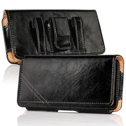 Leather Phone Horizontal Pouch Cover Belt