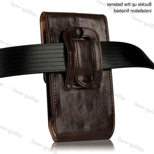 Leather Rugged Case Holster Belt Carrying Black