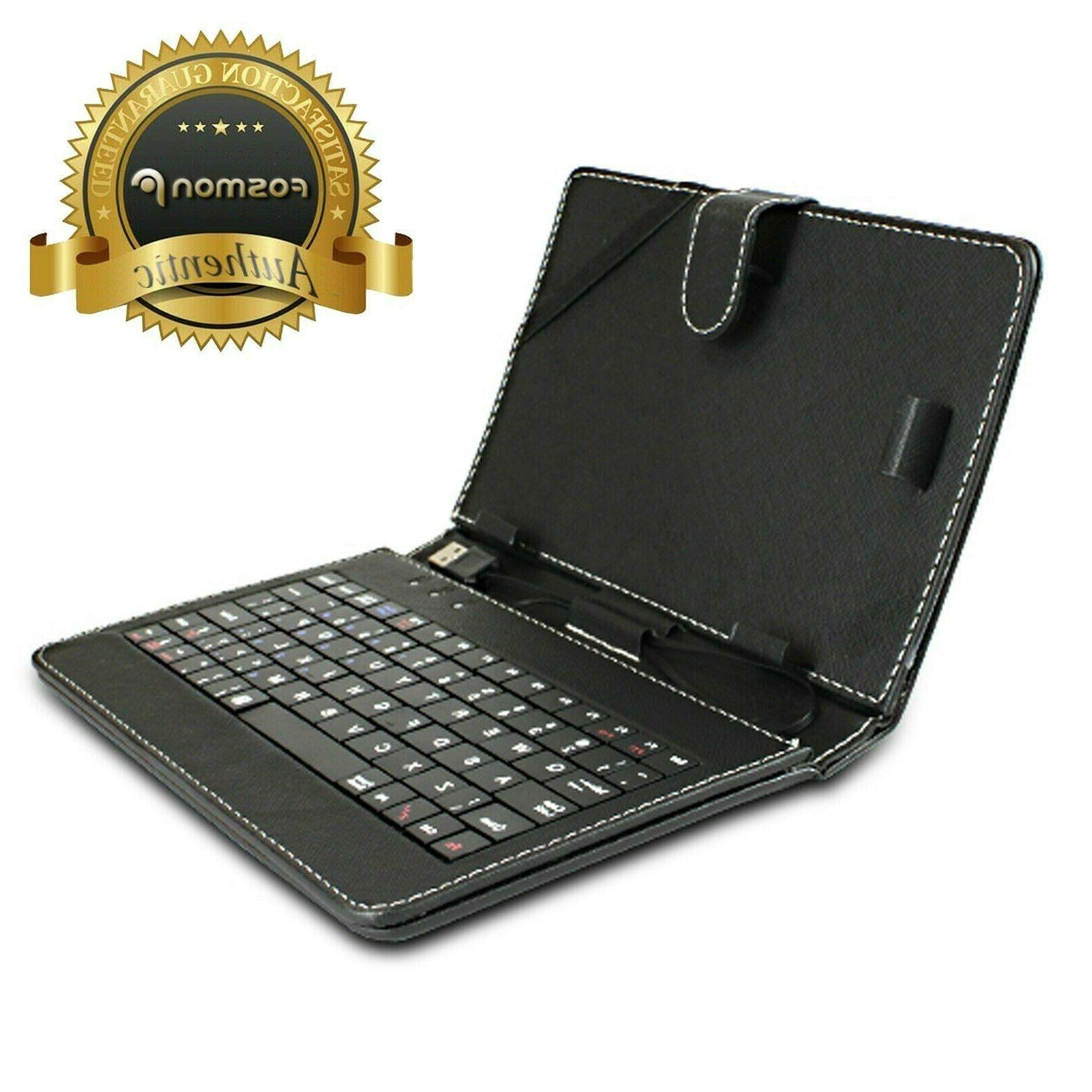 leather usb qwerty keyboard folio magnetic case