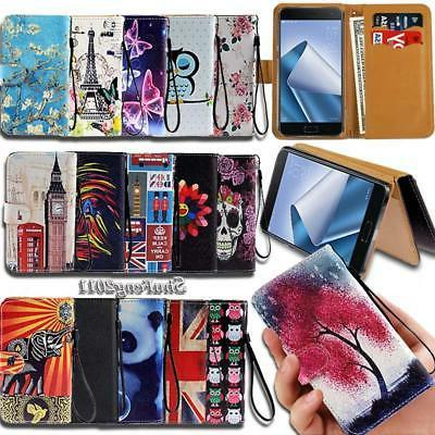Leather Wallet Stand Magnetic Flip Case Cover For Various As
