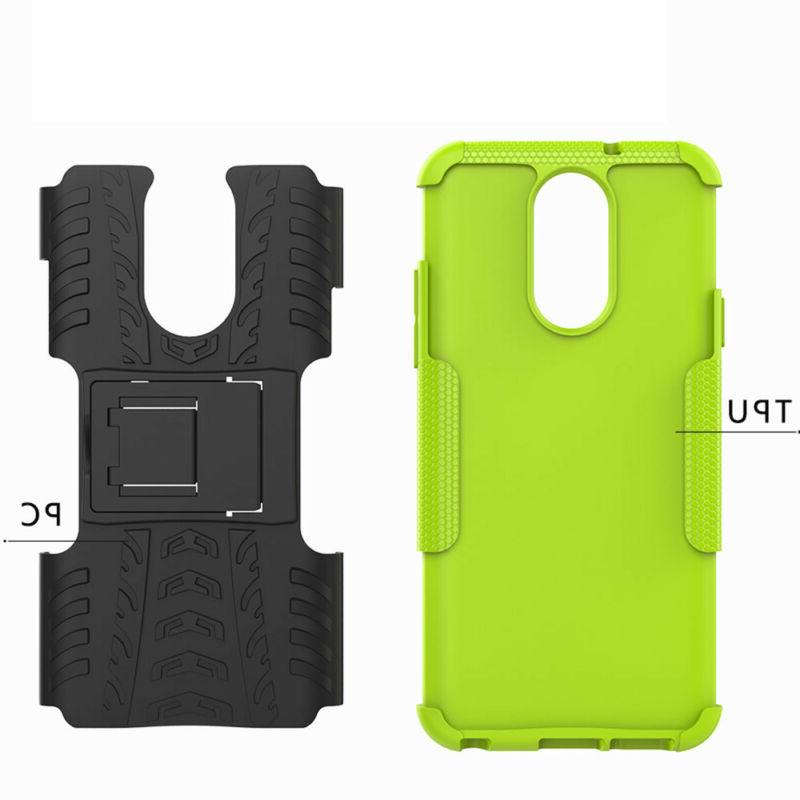 For Q7/Q7 Plus Case Shockproof Rugged Cover+Tempered