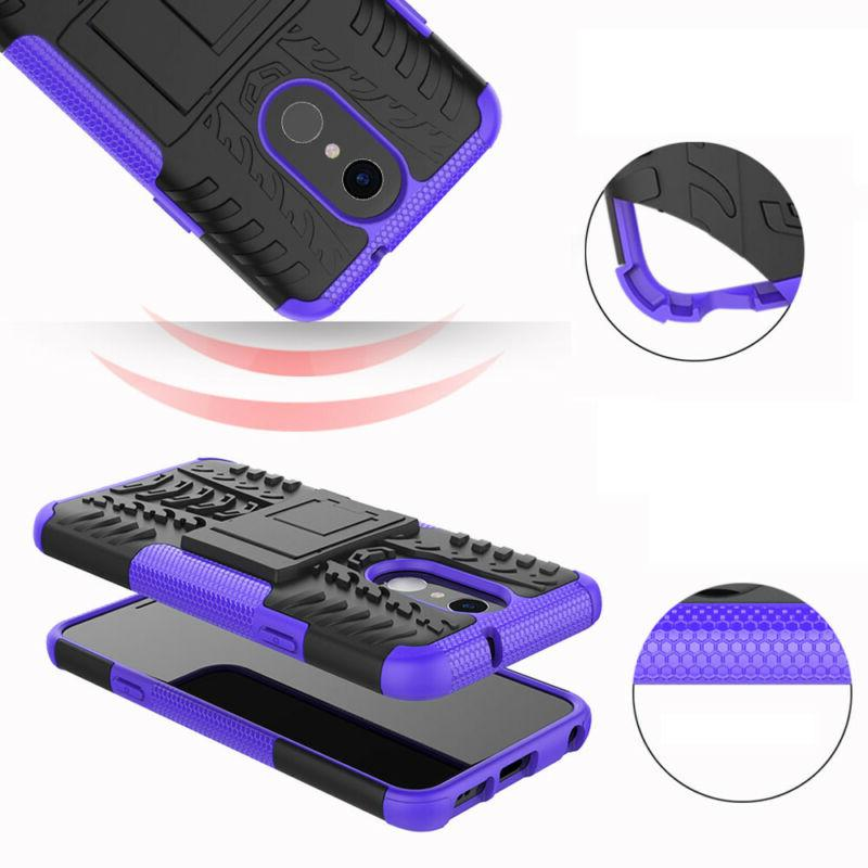 For LG Case Rugged Case Cover+Tempered Glass