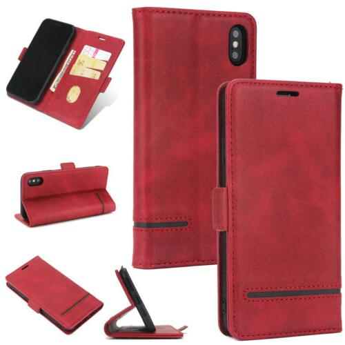 For XR 7 6s Magnetic Card Wallet Cover