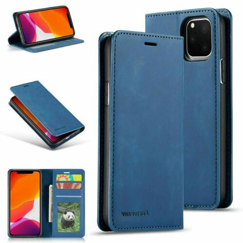 Magnetic Flip Leather Wallet Case iPhone 11 Pro Max X 7 6S