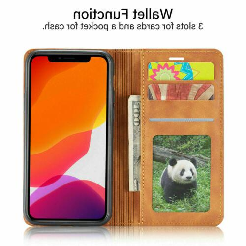 Magnetic Leather Case For iPhone 11 6S Cover