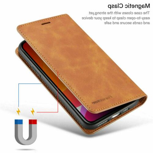 Magnetic Leather Case For iPhone 11 Max XS X 7 6S