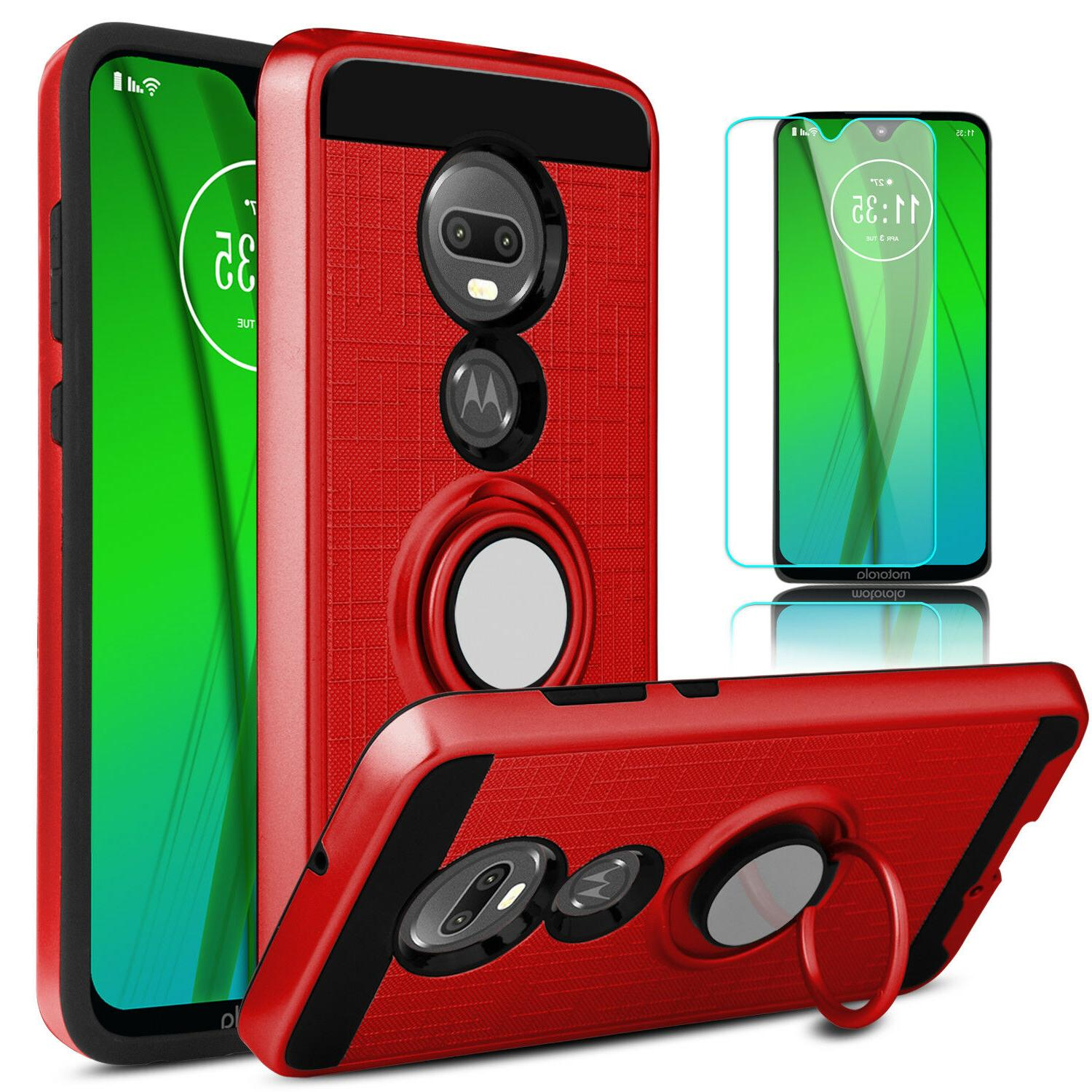 For G7 Case Cover With Stand + Screen Protector
