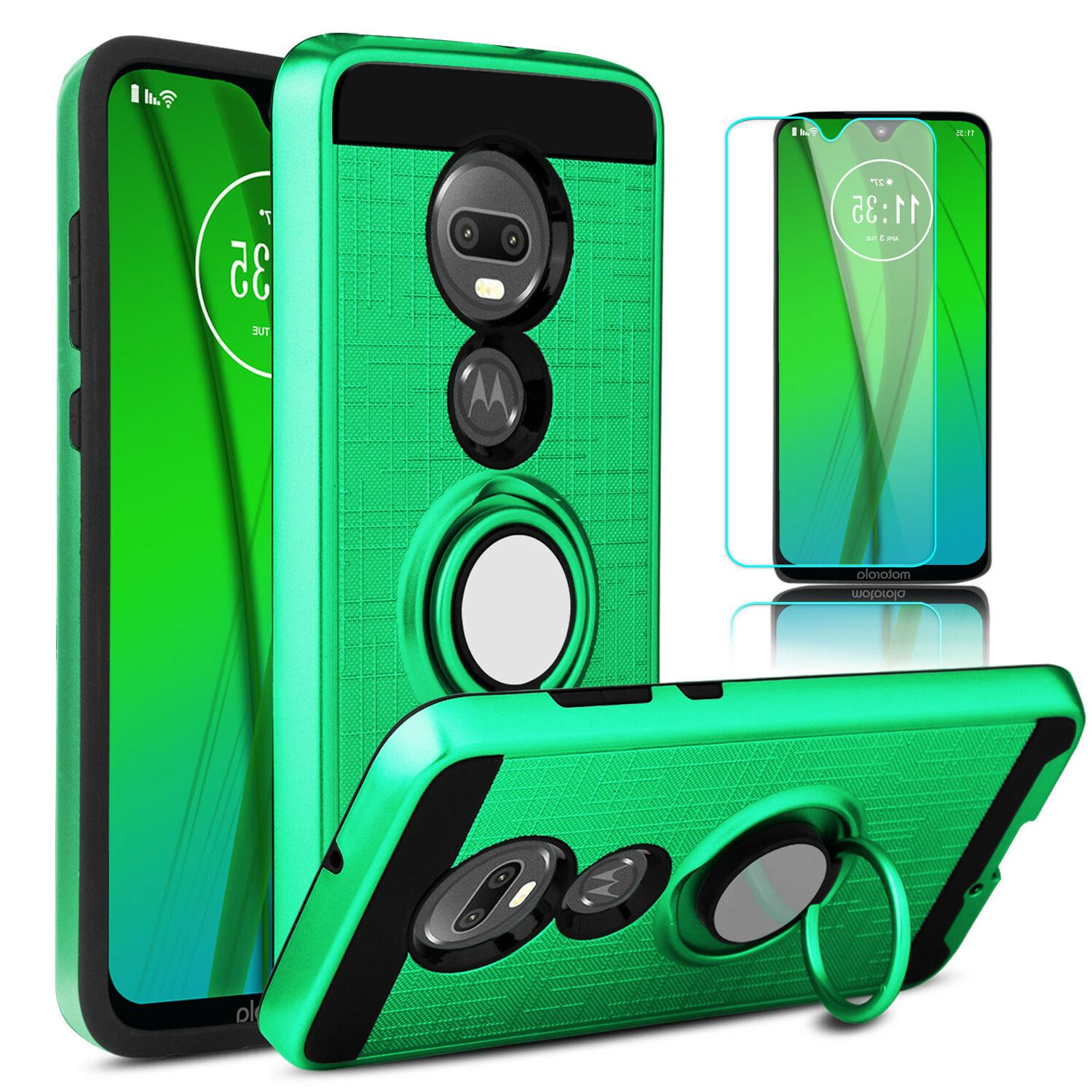 For Motorola Case With Stand Holder + Screen Protector