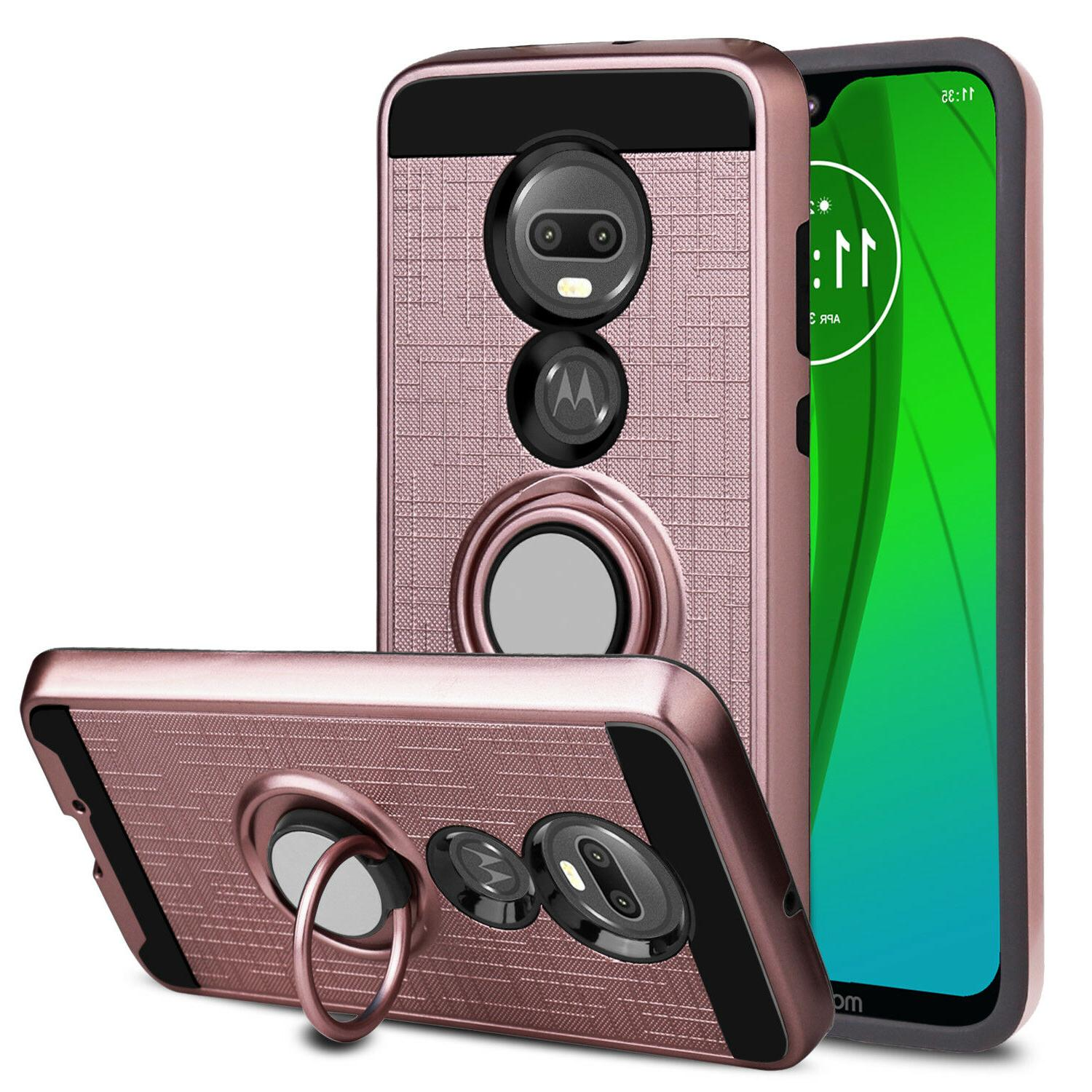 For Phone Shockproof Ring Stand Hybrid Cover