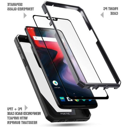 OnePlus 6 Clear Case,Poetic® Shockproof Bumper Cover