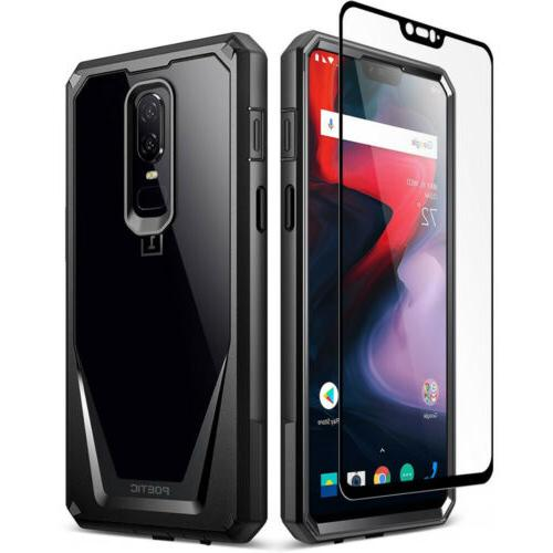 OnePlus 6 / OnePlus 7 Case Clear Case,Poetic® Shockproof Bumper Cover