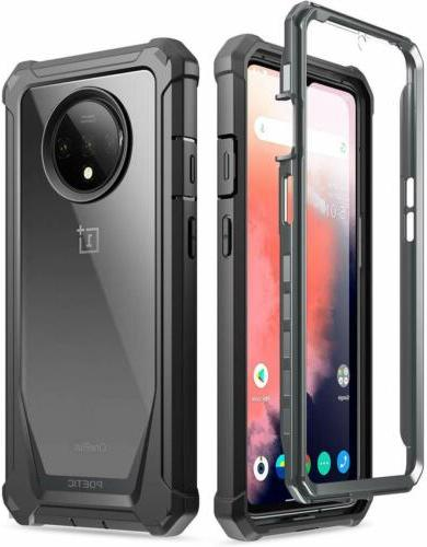 oneplus 7 pro rugged clear case full
