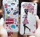 Phone Case Fashion Girl Patterned fun travel Soft Silicone T