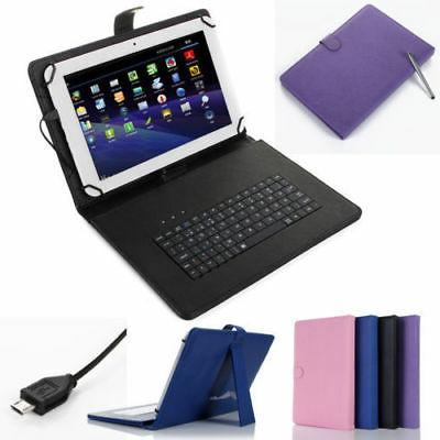 PU Leather Case Cover Micro USB Keyboard for 7'' 8'' 10'' in