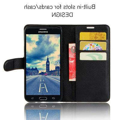 For Samsung Phone Case Card Wallet Flip Leather Protective Stand