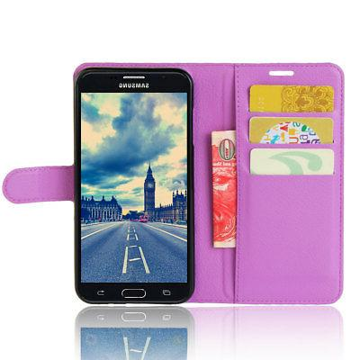 For Samsung Galaxy J7 Phone Case Wallet Flip Stand