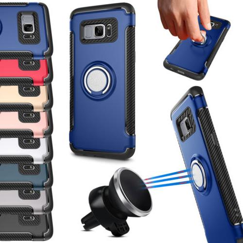 Shockproof Magnet 360 Rotate Stand Holder Case Cover For Sam