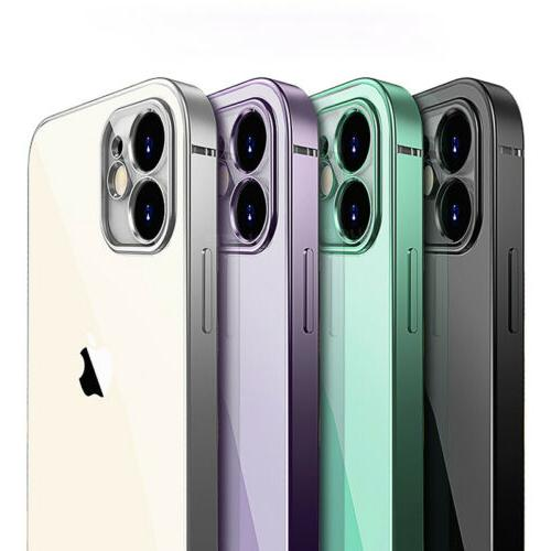 shockproof plating clear case for iphone 12