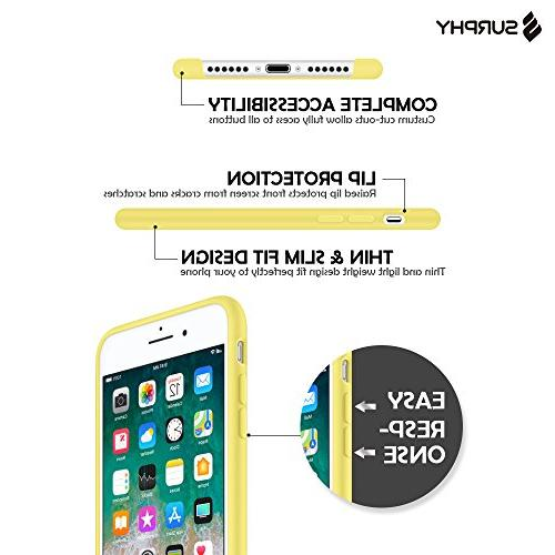SURPHY Silicone iPhone 8 iPhone Case, Silicone Case Cover 7 iPhone Yellow