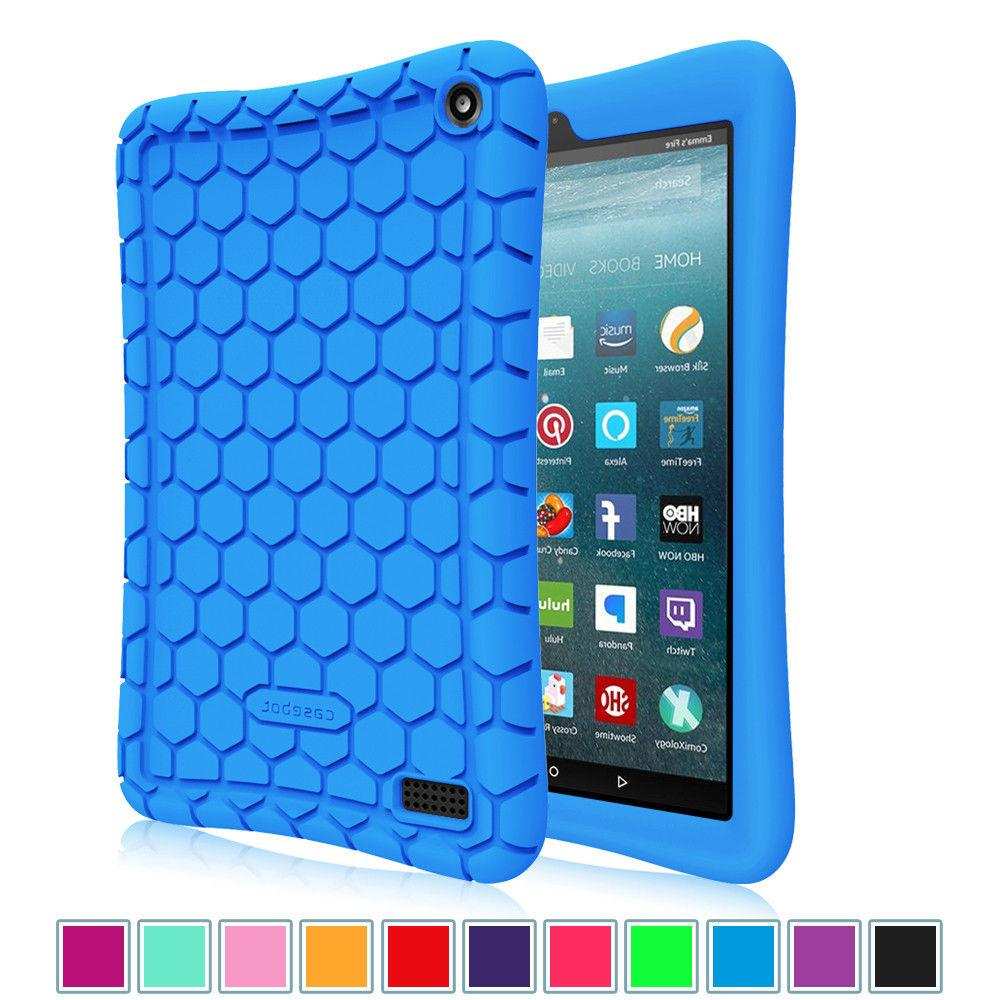 Silicone Case Cover Kids Friendly For All-New Amazon Fire 7