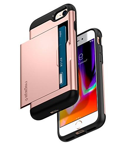 Spigen Slim Armor iPhone Case/iPhone Case with Layer and Card Slot Holder for Apple / iPhone Gold