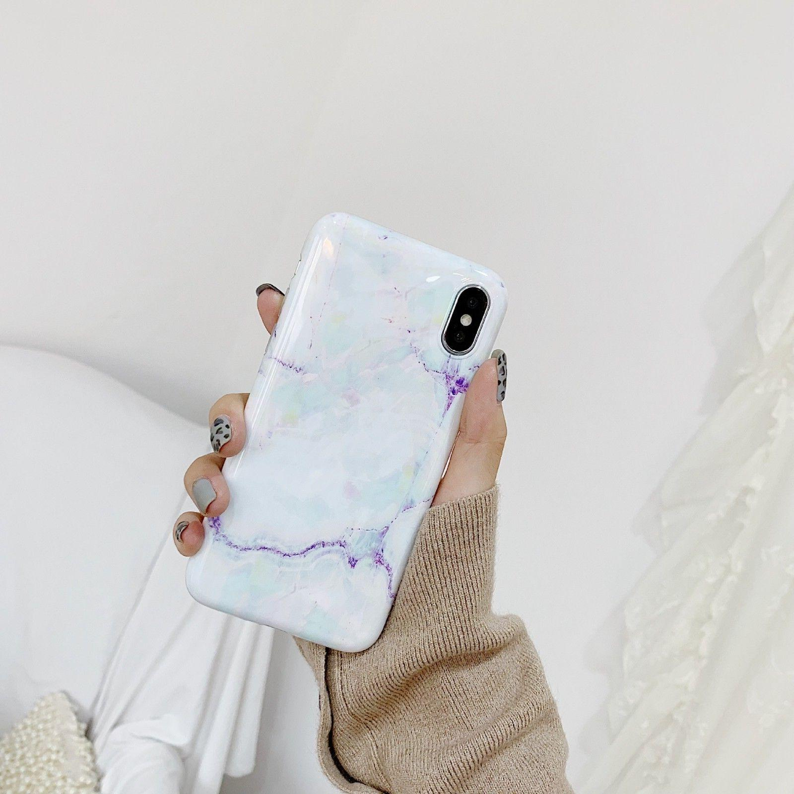 Slim Fit Marble Case TPU For iPhone XR 7 8 Plus
