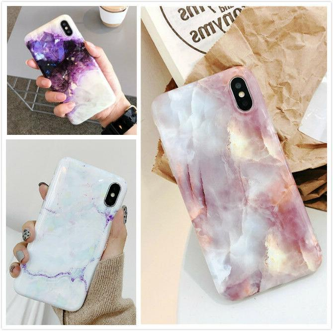 slim fit marble pattern case soft tpu