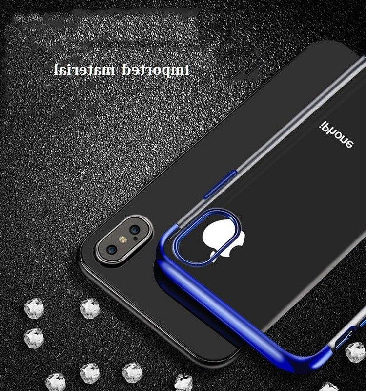 Ultra Plating Soft Clear Cover Case For iPhone