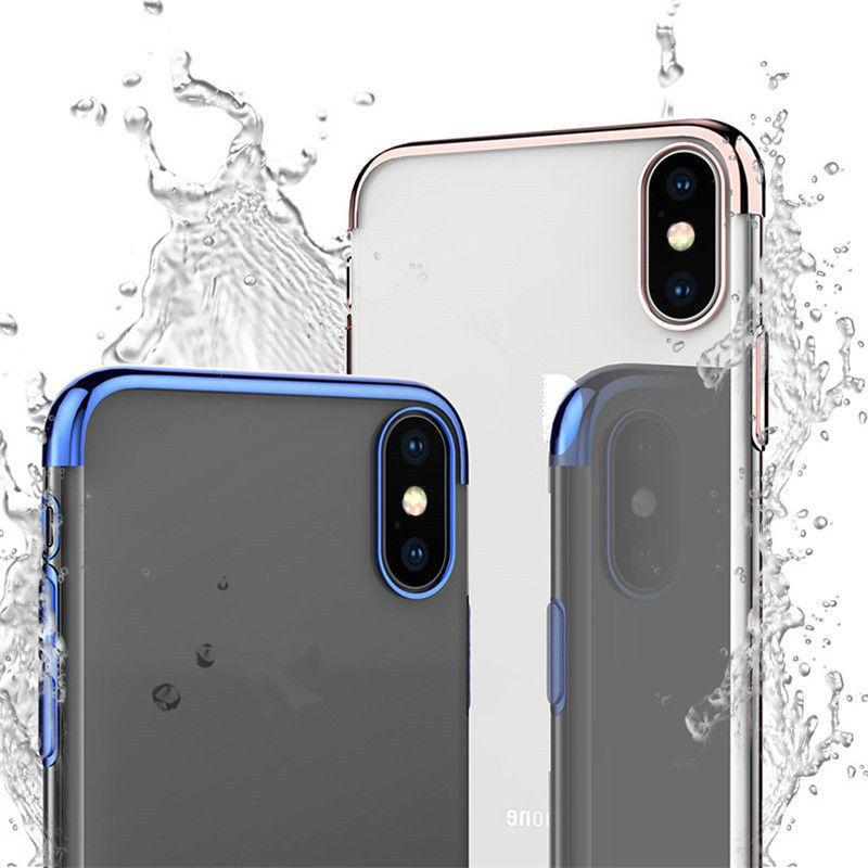 Ultra Plating Silicone Soft Cover Case iPhone