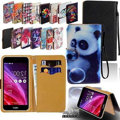 For Various Asus ZenFone SmartPhones -Leather Wallet Card St