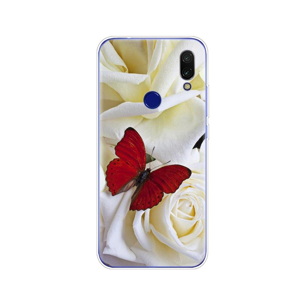 For Redmi <font><b>7</b></font> <font><b>Case</b></font> Silicone Painting Soft TPU snapdragon 632 Coque